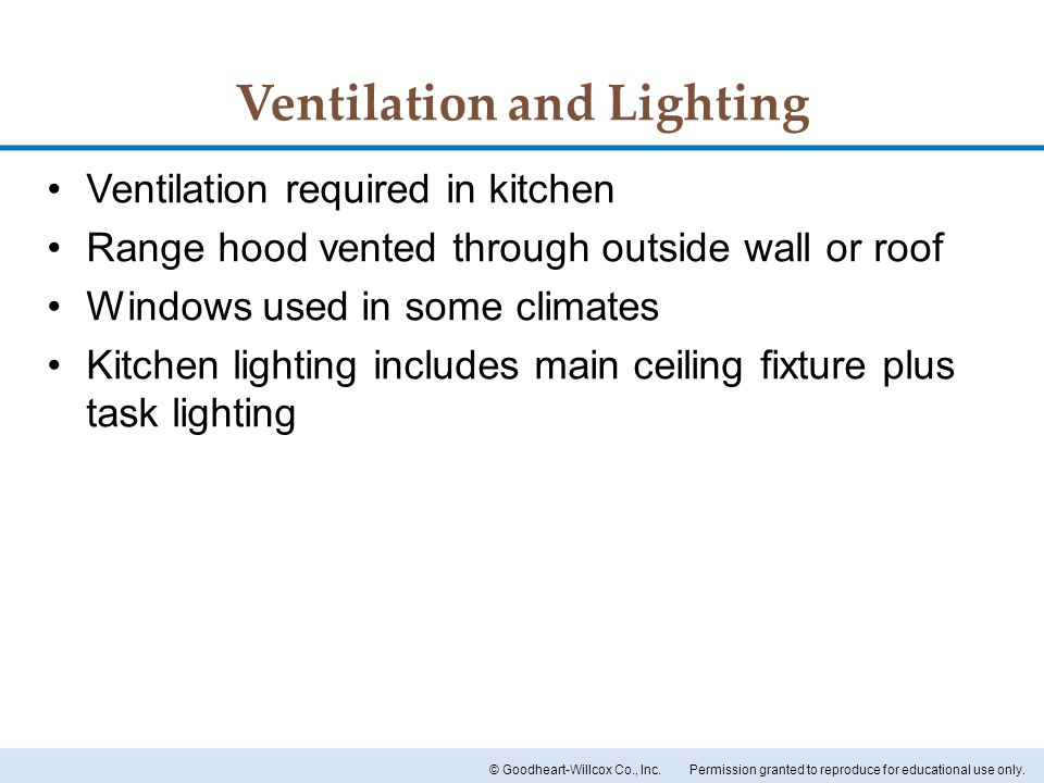Ventilation and Lighting