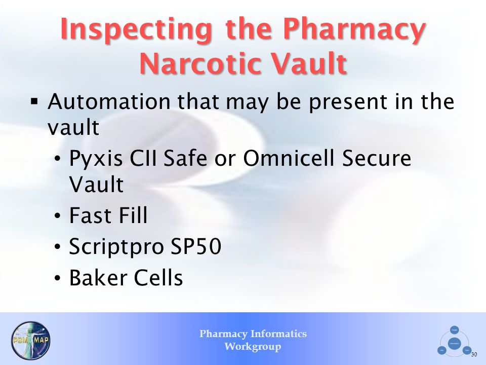 Inspecting the Pharmacy Narcotic Vault