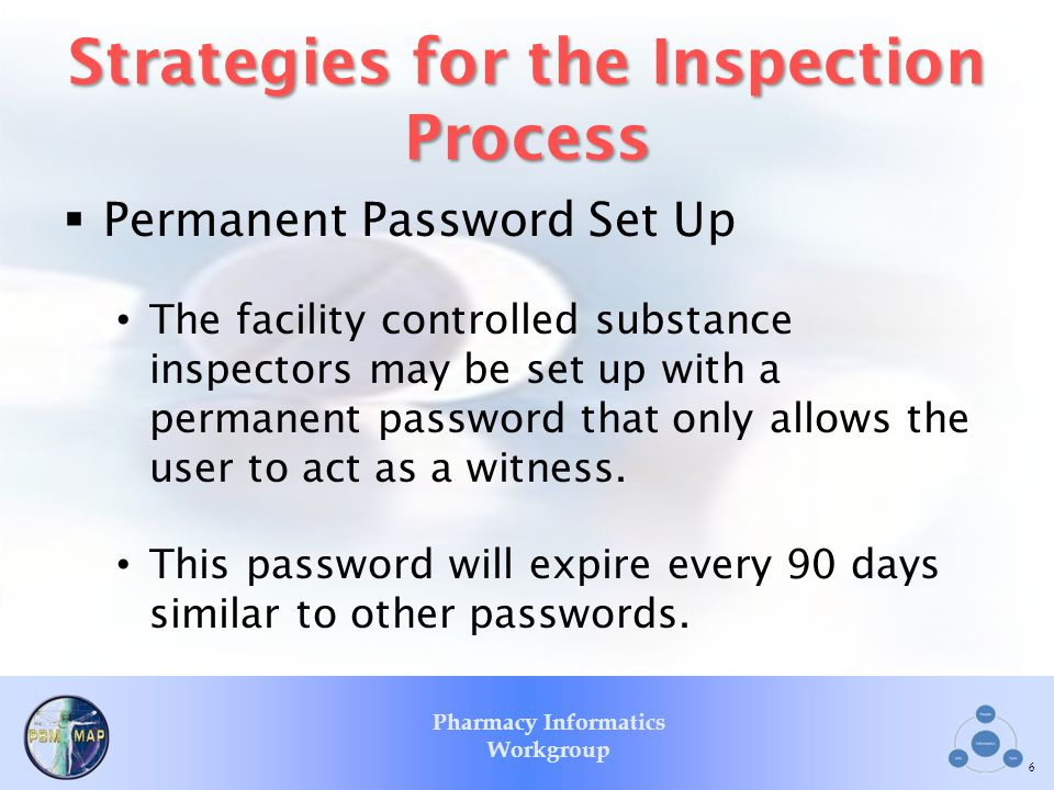 Strategies for the Inspection Process