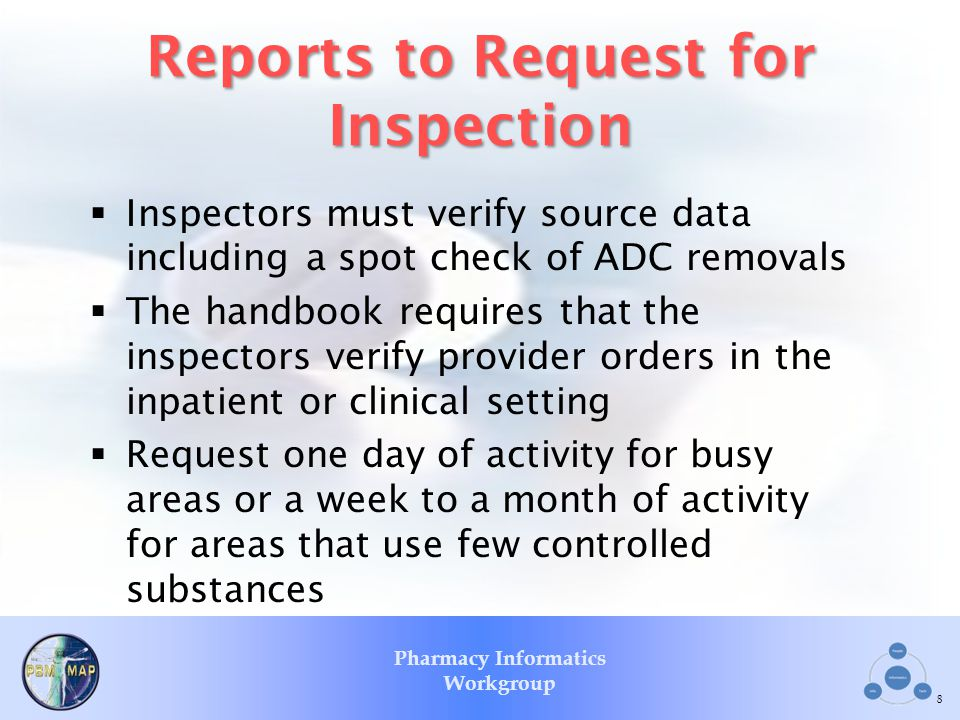 Reports to Request for Inspection