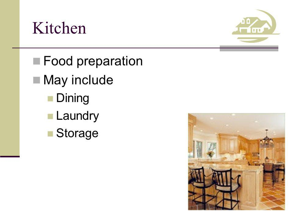 Kitchen Food preparation May include Dining Laundry Storage