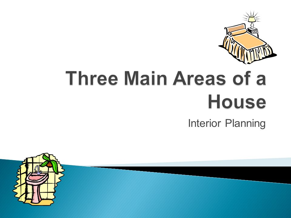 Three Main Areas of a House