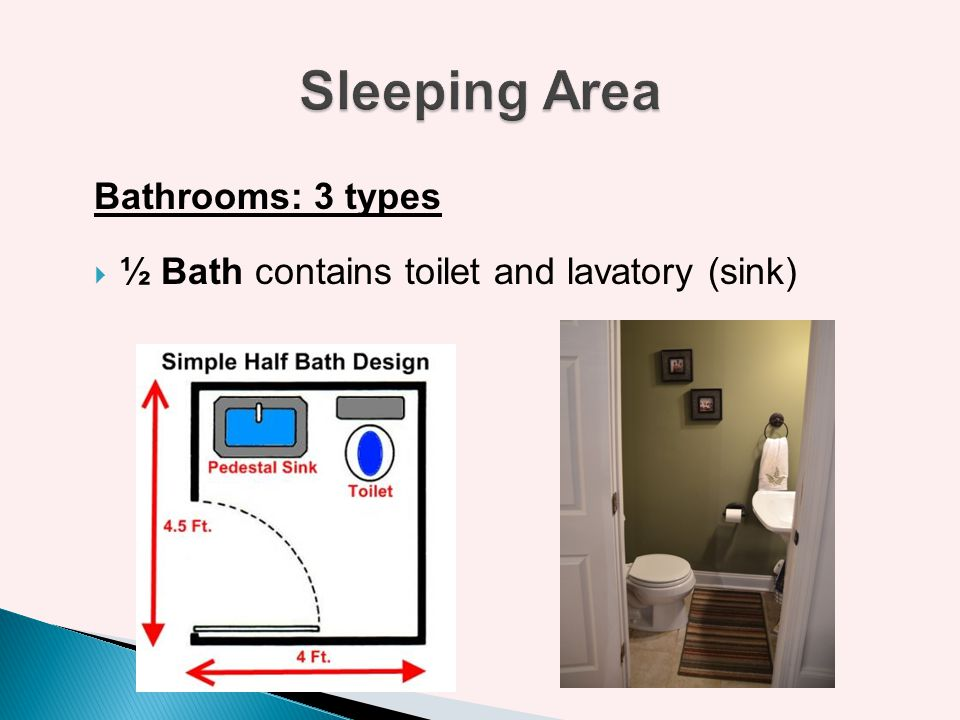 Sleeping Area Bathrooms: 3 types