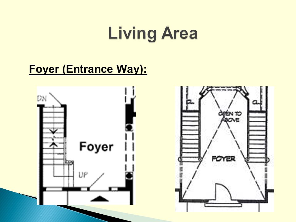 Living Area Foyer (Entrance Way):