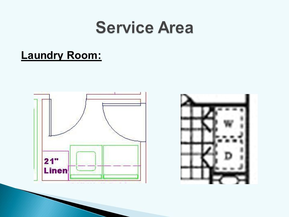 Service Area Laundry Room: