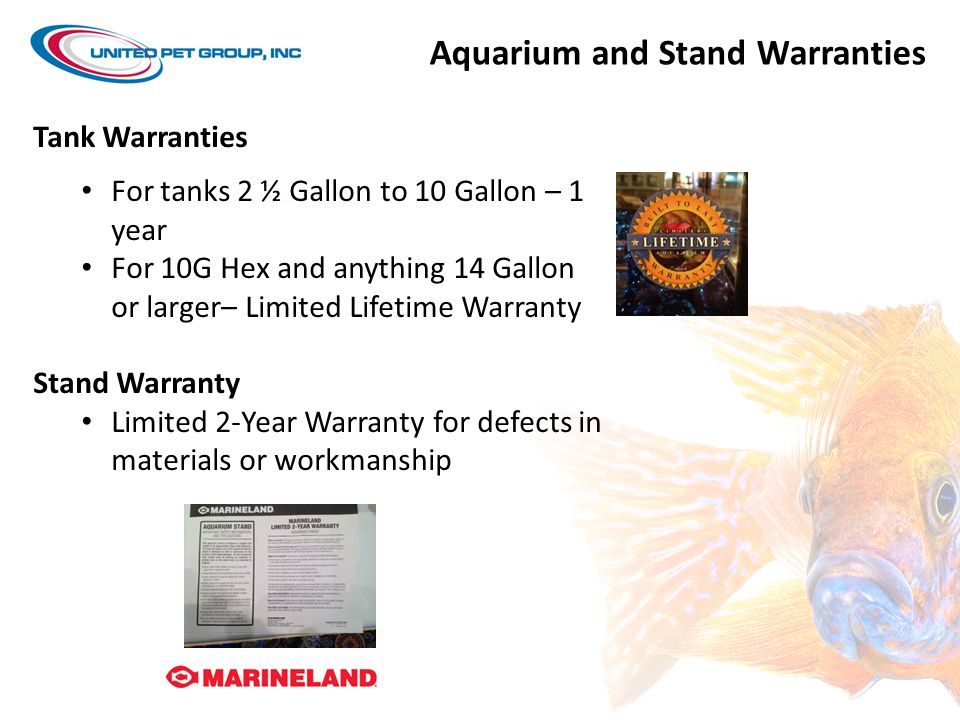 Aquarium and Stand Warranties