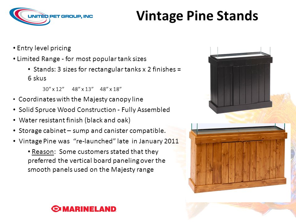 Vintage Pine Stands Entry level pricing
