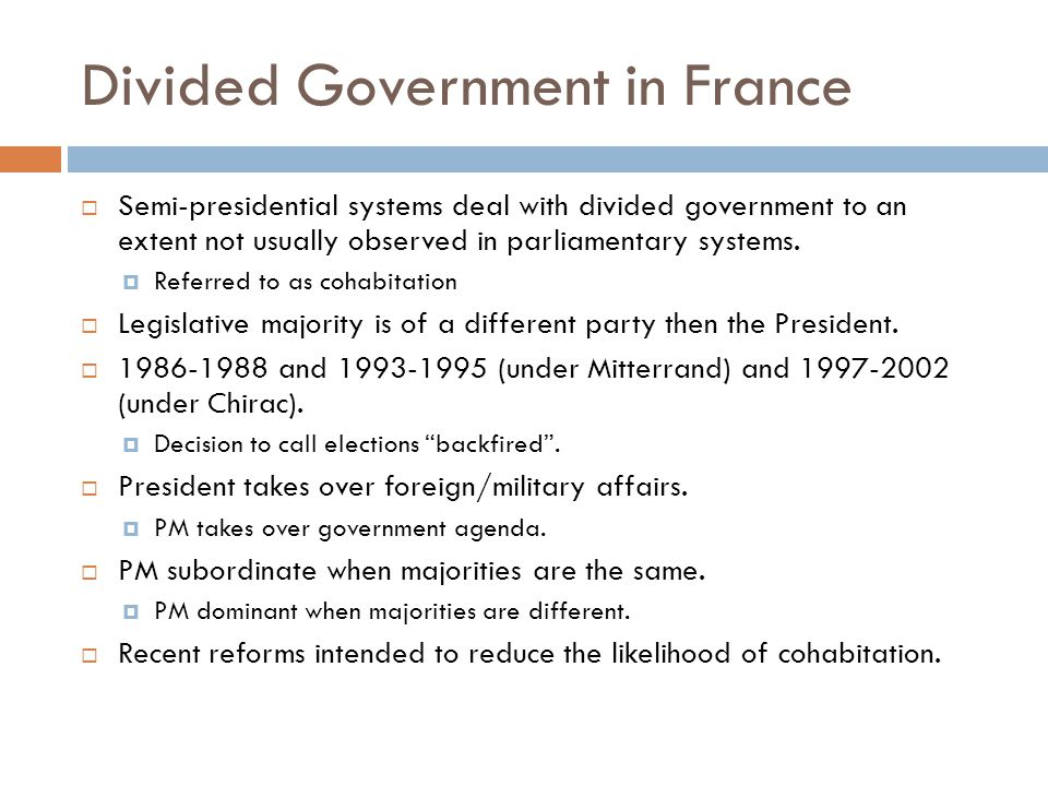 Divided Government in France
