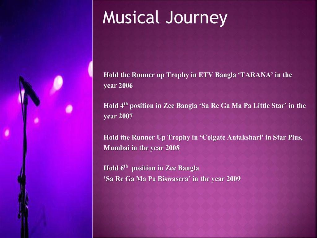 Singer & Live Performer - ppt download