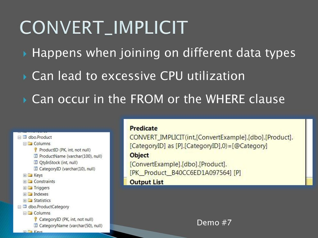 CONVERT_IMPLICIT Happens when joining on different data types