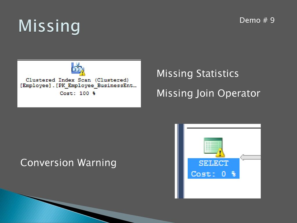 Missing Missing Statistics Missing Join Operator Conversion Warning