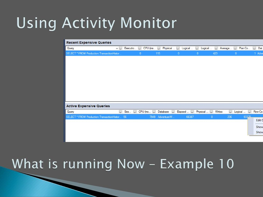 Using Activity Monitor
