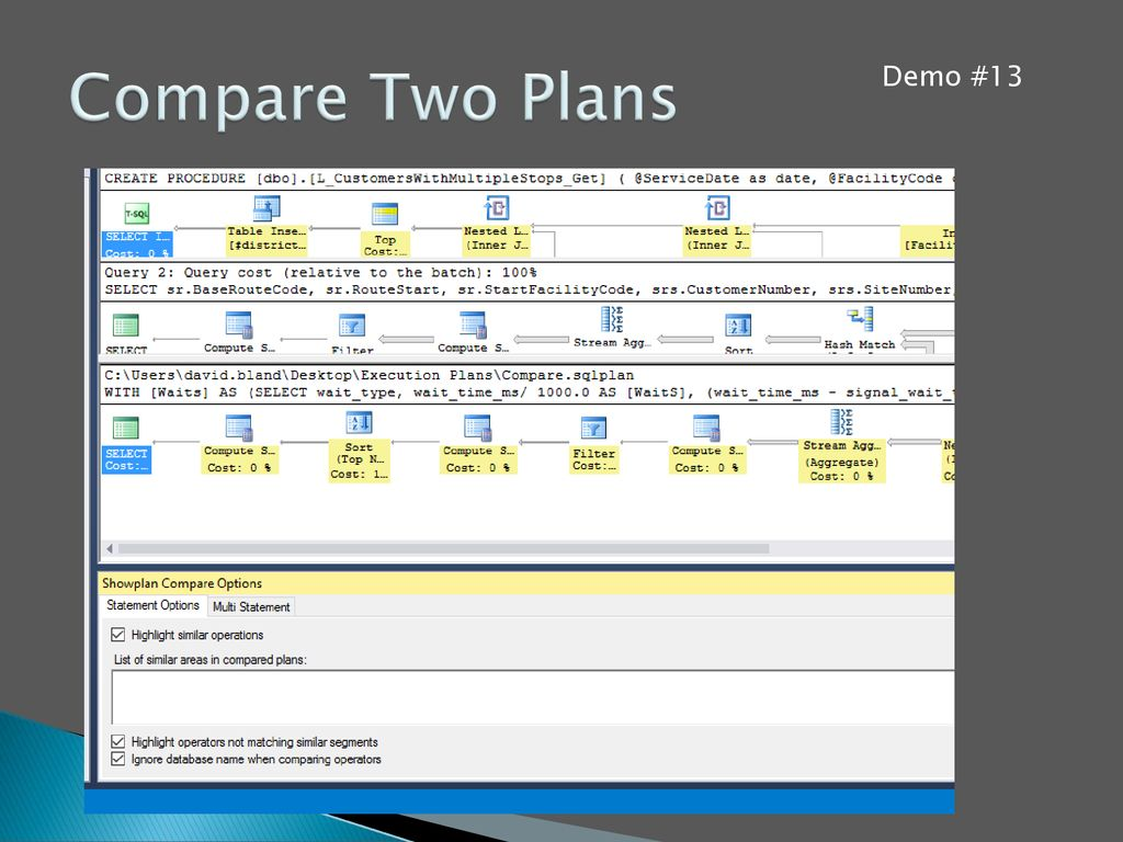 Compare Two Plans Demo #13