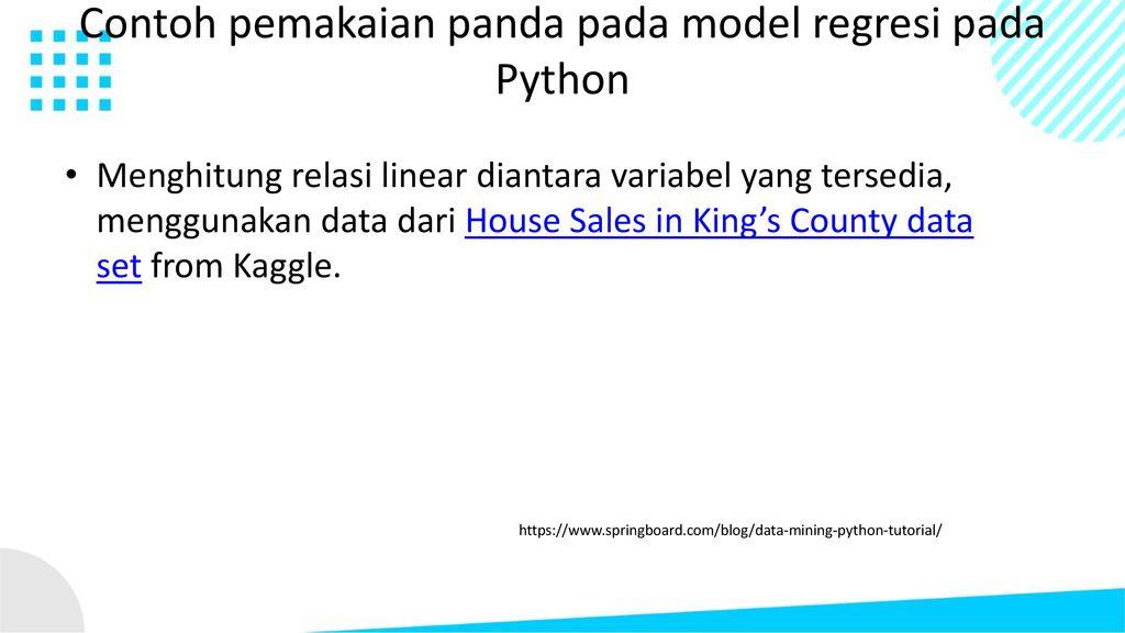 STUDI KASUS MACHINE LEARNING DAN DATA MINING - ppt download