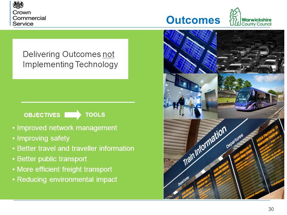 Outcomes Delivering Outcomes not Implementing Technology