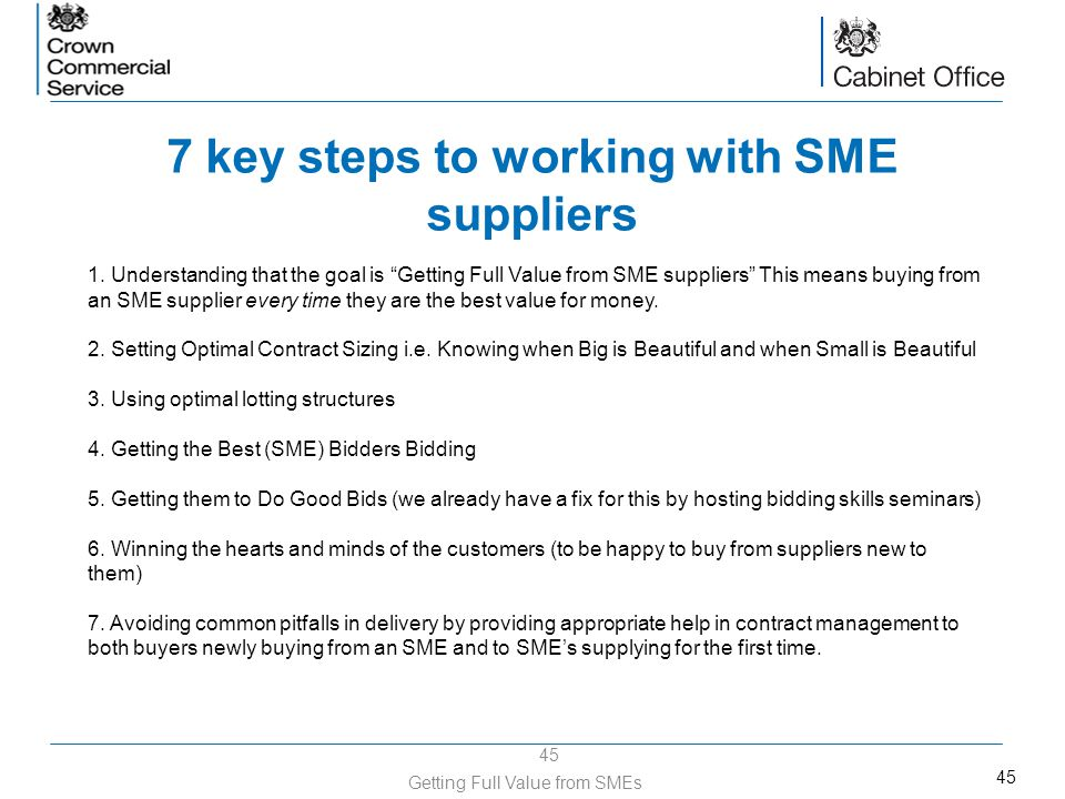 7 key steps to working with SME suppliers