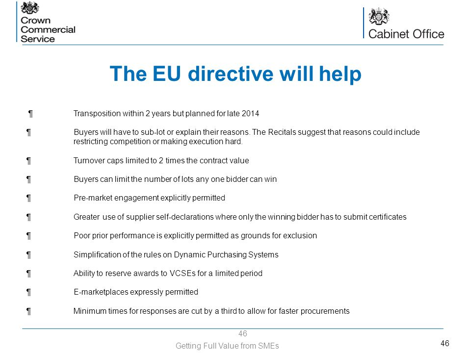 The EU directive will help