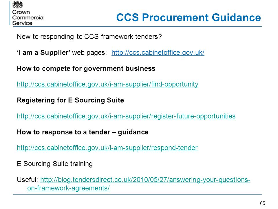 CCS Procurement Guidance