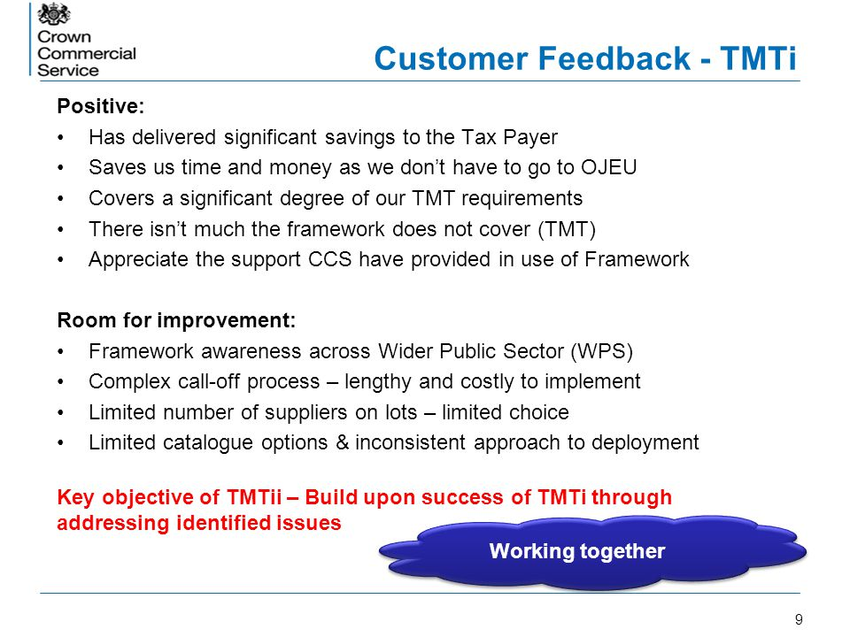 Customer Feedback - TMTi