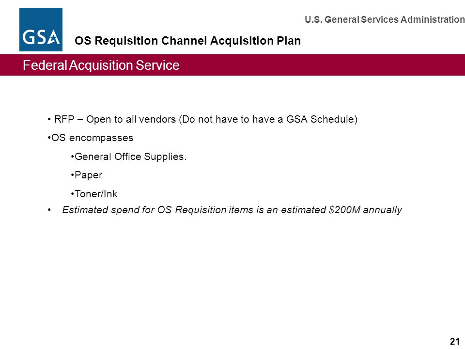 OS Requisition Channel Acquisition Plan