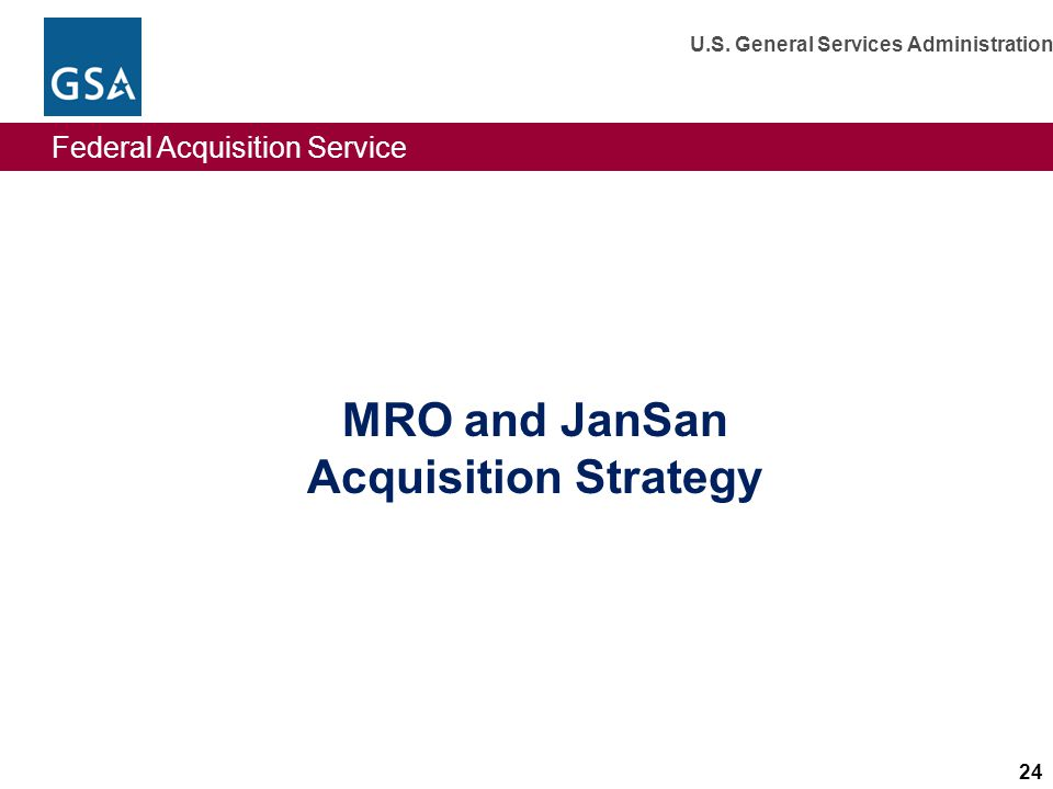 MRO and JanSan Acquisition Strategy
