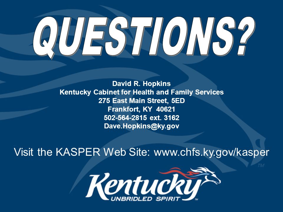 kentucky cabinet for health and family services kentucky all schedule prescription electronic reporting 18066