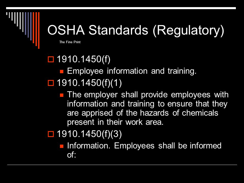 OSHA Standards (Regulatory)
