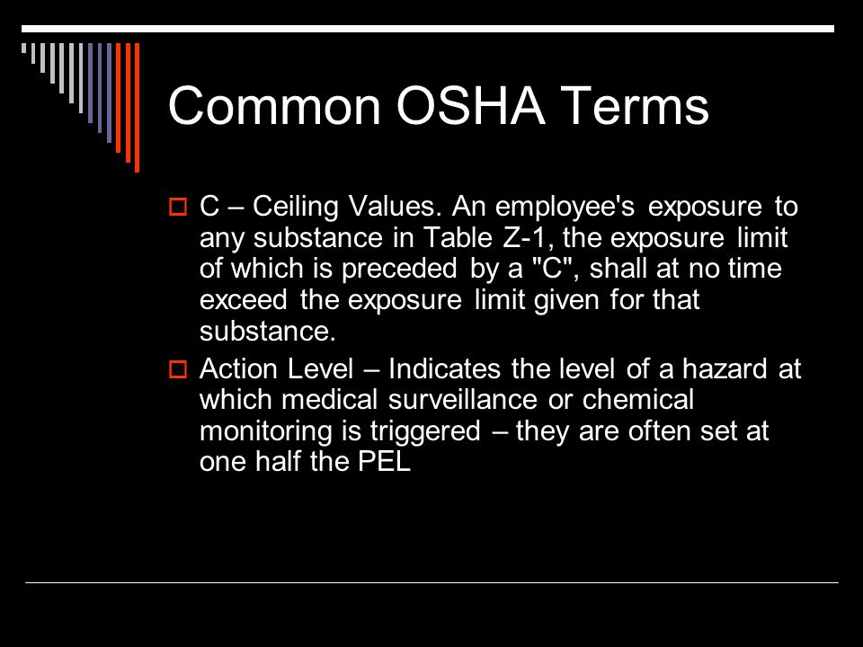 Common OSHA Terms