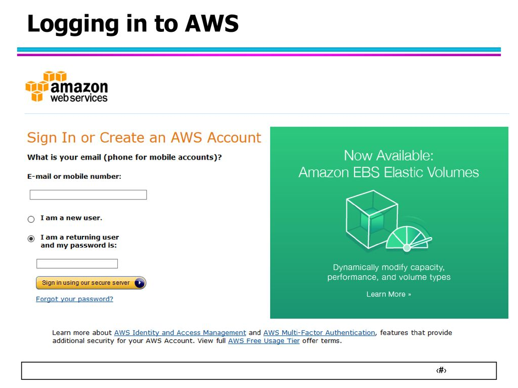Lecture 16B: Instructions on how to use Hadoop on Amazon Web