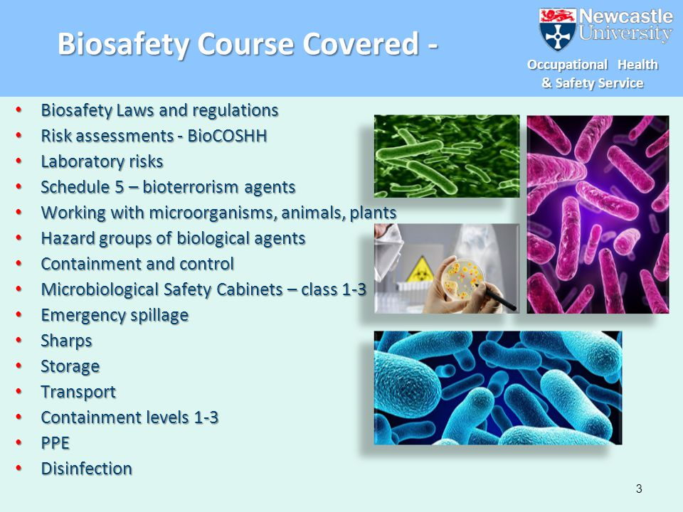 Biosafety Course Covered -