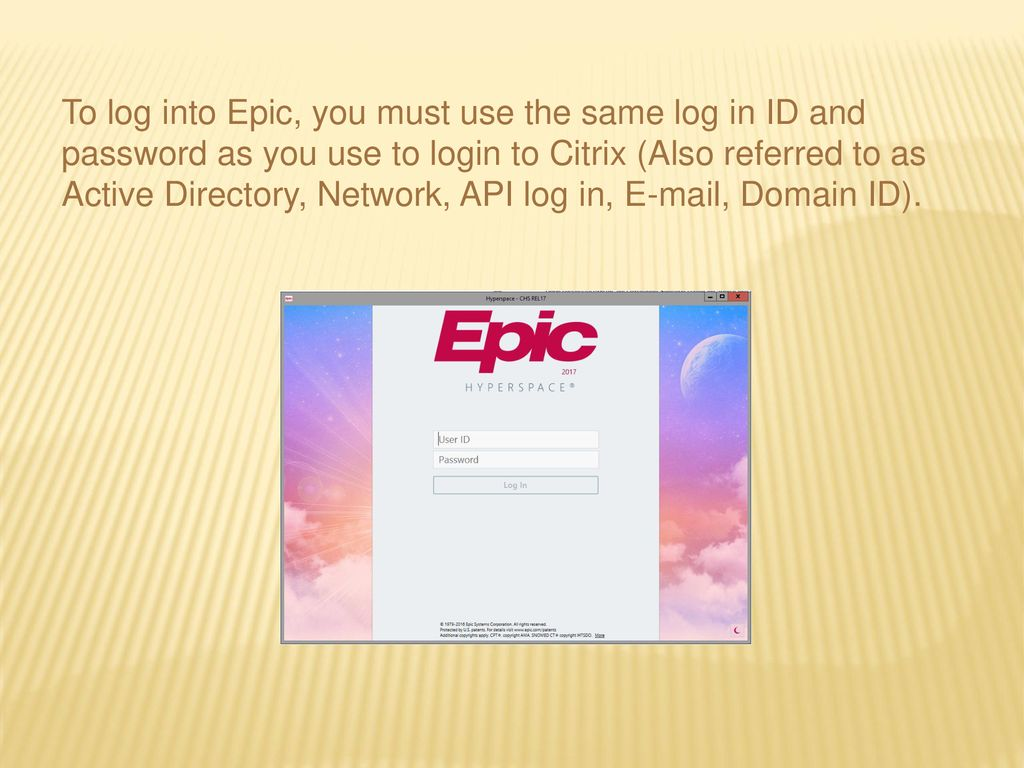 Epic Access  - ppt download