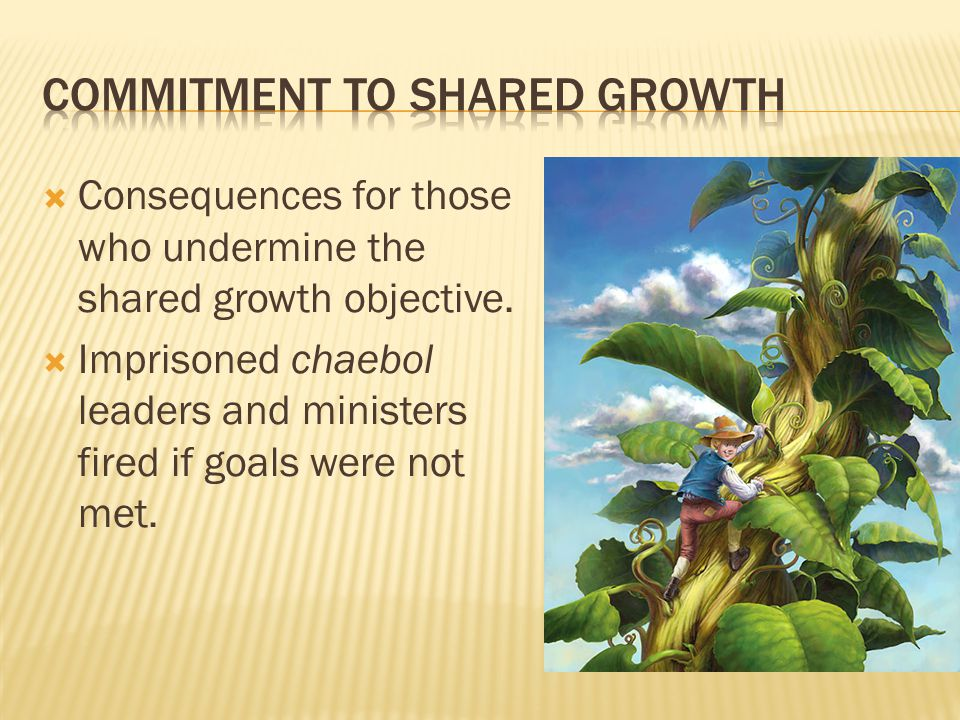 Commitment to shared growth