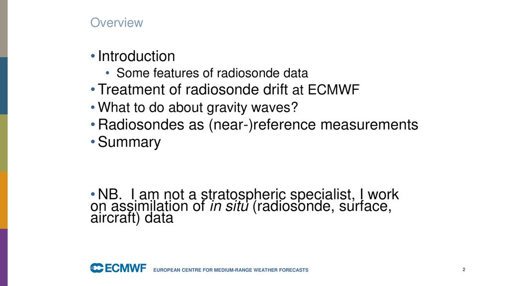 Assimilation of stratospheric radiosonde data - ppt download