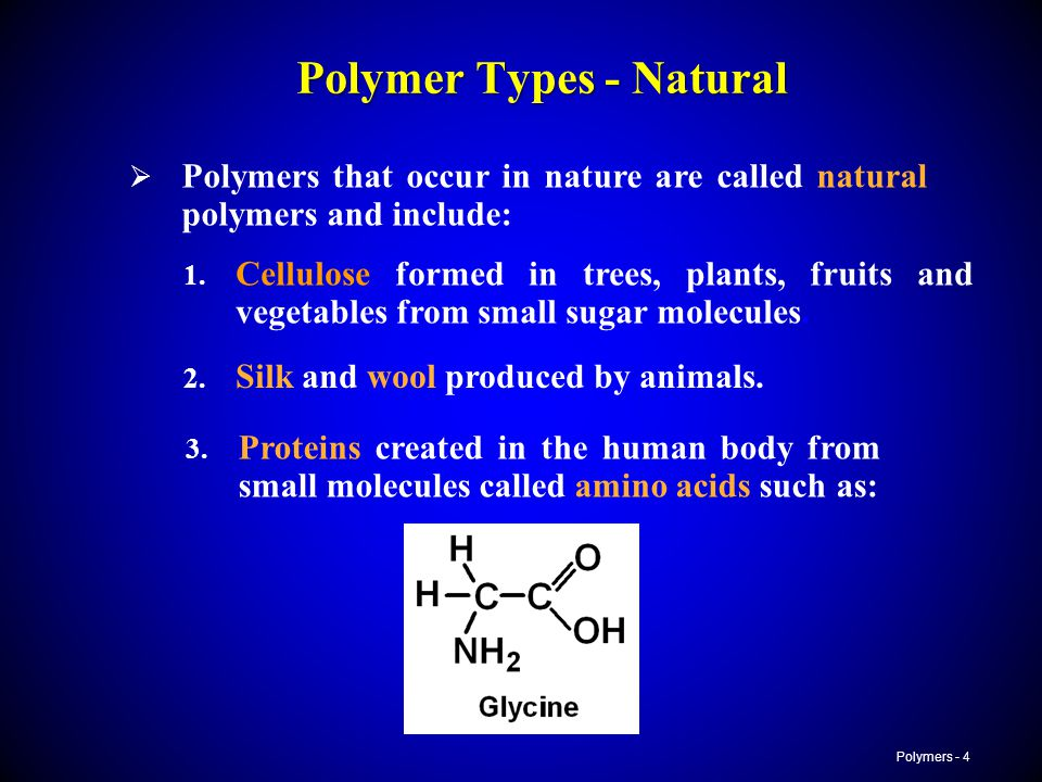 Polymer Types - Natural