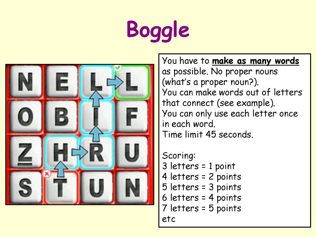 Literacy activity: BOGGLE!  - ppt download