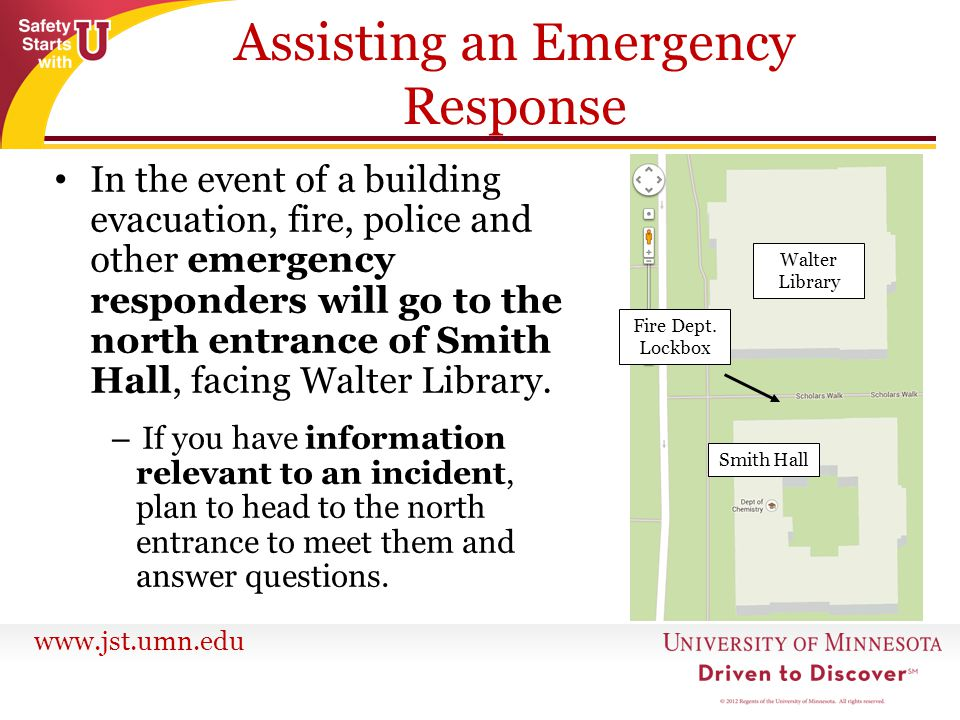 Assisting an Emergency Response