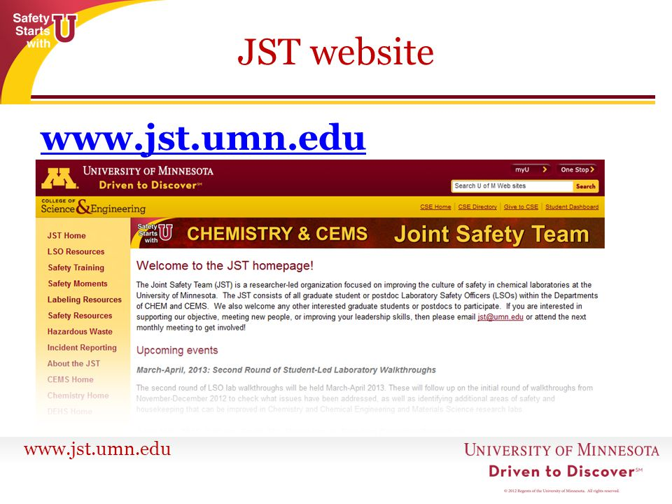 JST website www.jst.umn.edu