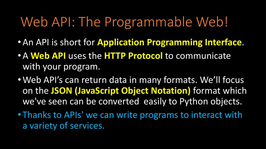 Lesson 11: Web Services and API's - ppt download