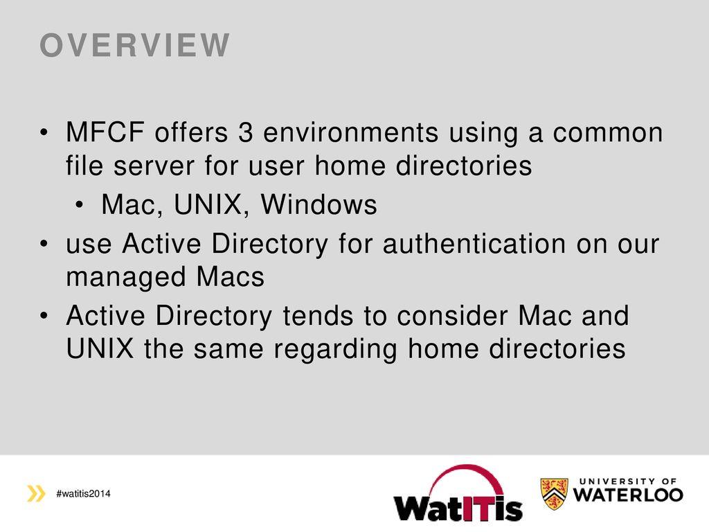 MFCF's Mac Management Methods - ppt download