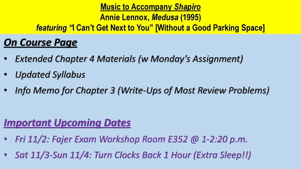 Property II: Class #21 Wednesday 10/31/18 Power Point