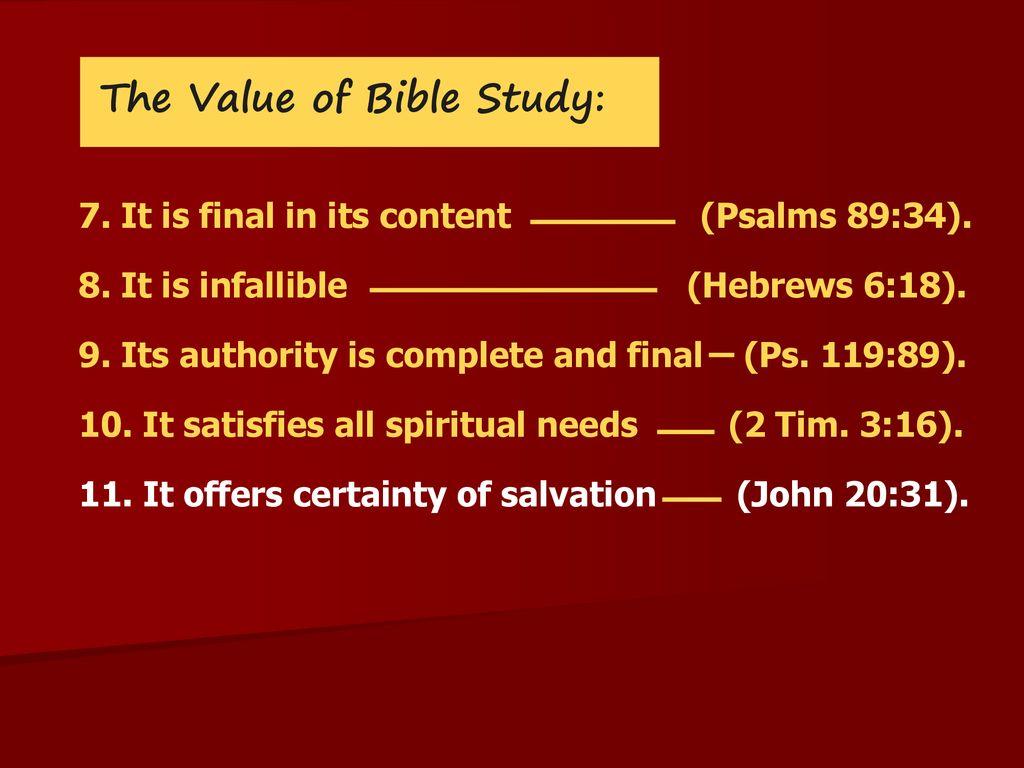Bible Study Seminar  - ppt download