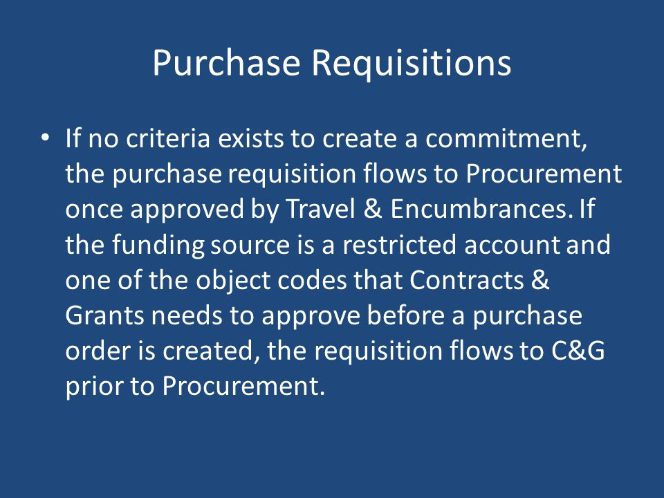 Purchase Requisitions
