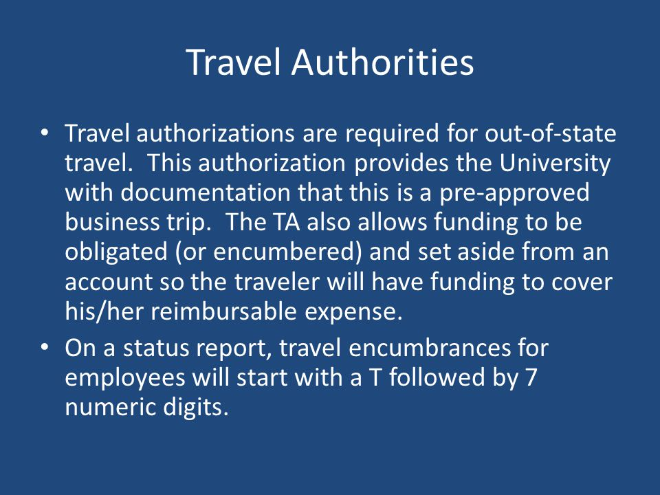 Travel Authorities