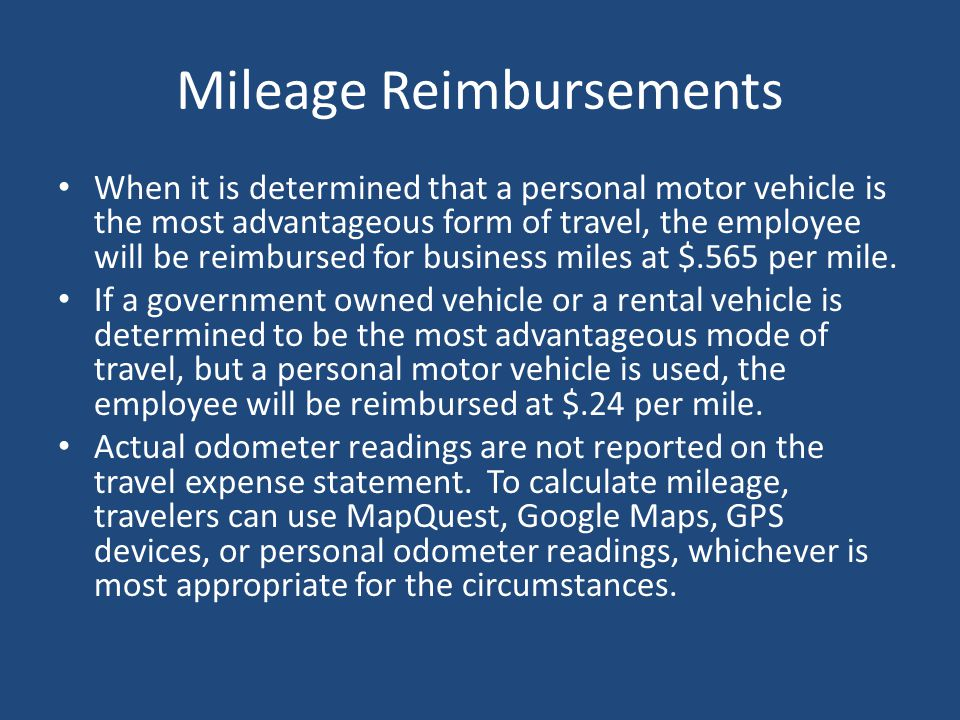 Mileage Reimbursements