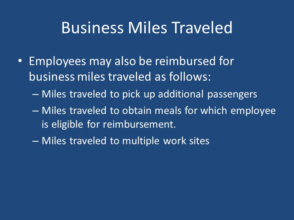 Business Miles Traveled