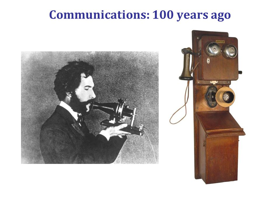 Communications: 100 years ago