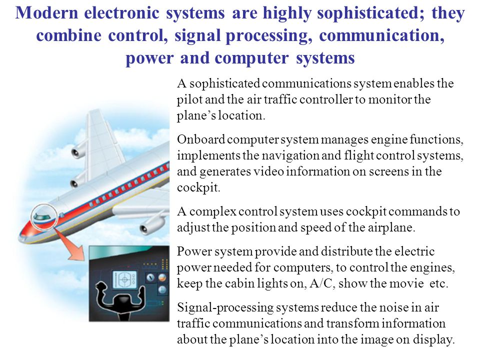 Modern electronic systems are highly sophisticated; they combine control, signal processing, communication, power and computer systems