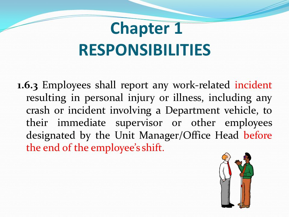 Chapter 1 RESPONSIBILITIES