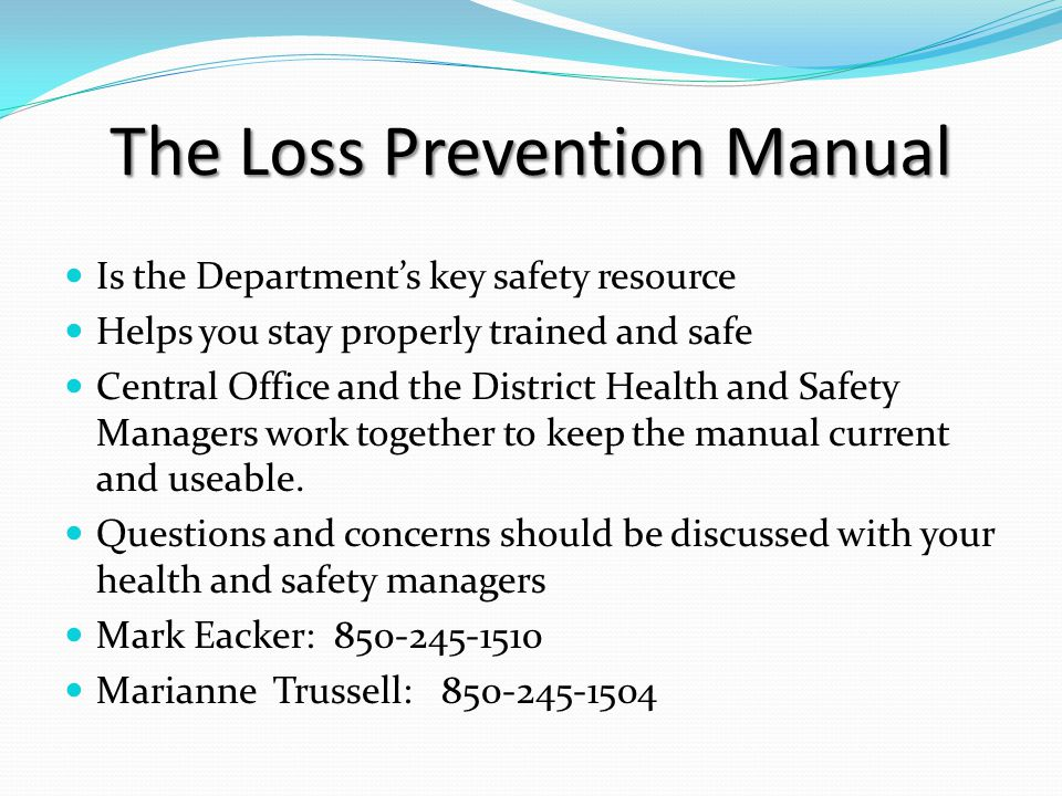 The Loss Prevention Manual