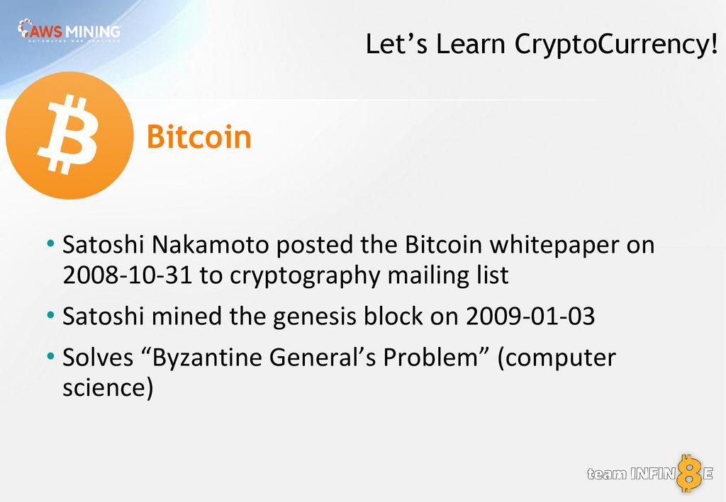 Purchase Bitcoins Near Me Satoshi Nakamoto Cryptography Mailing List